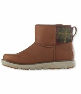 L.L. BEAN Mountain Lodge Snow Boots, Sz 10, Cocoa Brown, Fleece Lined, Insulated