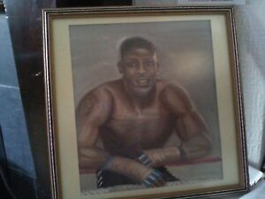 Original Watercolour Painting of Boxing Champ Anthony Joseph