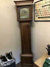 More details for antique 18th century oak grandfather longcase clock (working )
