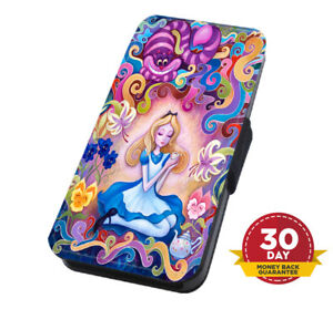 Alice in Wonderland The Mad Hatter Flip Cover for Apple iPhone Samsung Wallet