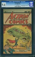 Action #1 CGC 9.6 DC 1976 Rare Sleeping Bag Back Cover! 1st Superman! F7 102 cm