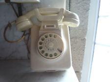 altes orginal Wandtelefon Beige / Elfenbein W48 / 49