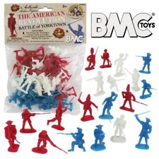 BMC Toys AWI American Revolution 34 Pc Plastic Soldiers Set NEW!