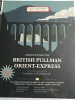 BRITISH PULLMAN ORIENT EXPRESS TRAIN GAME DINNER PARTY HOST YOUR OWN- NEW SEALED