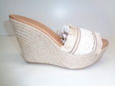 Charles David Size 8 DANA White Woven Raffia Wedge Sandals New Womens Shoes