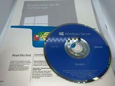 Microsoft Windows Server 2012 R2 Standard 64 bit OEM dvd + key w/ 5 CALS