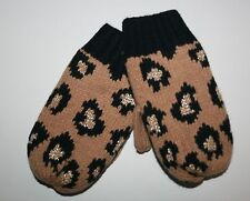New Gymboree Right Meow Line Leopard Animal Print Mittens Size 2T 3T NWT