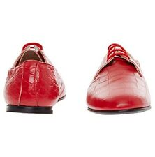 """NEW """"BALLY """" RED CROC LEATHER SHOES SIZE UK3- IT36, UK5.- IT38"""