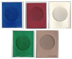 British Mouseloft Round Aperture Gift Card & Envelope Craft 9cm x 11.5cm New