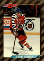 1992-93 Bowman Chicago Blackhawks Hockey Card #217 Jeremy Roenick/FOIL SP