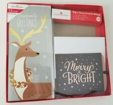 American Greetings - Holiday Christmas - 12 Cards & Envelopes