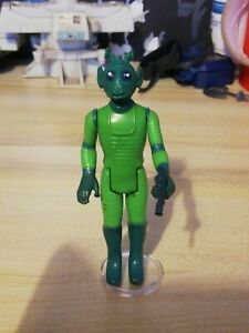 Vintage Star Wars - Greedo action figure and weapon ( ref H1176)