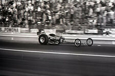 'Adams and Enriquez' Front Engine Dragster @ Pomona - Vintage 35mm Race Negative