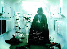Dave PROWSE SIGNED Autograph Darth VADER Film Star Wars 16x12 Photo C AFTAL COA
