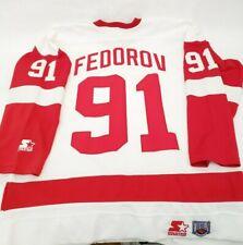Sergei Federov #91 Detroit Red Wings Pro Stock Jersey
