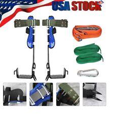 Tree Climbing Spike Kit Safety Adjustable Belt 2gears Lanyard Rope Rescue Belt