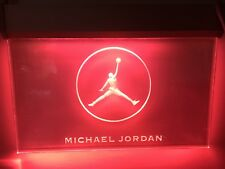 Michael Jordan Red Light-Up Sign! Still Works! Pe