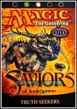 TRUTH SEEKERS magic SAVIORS OF KAMIGAWA WHITE GREEN RARE MTG SEALED STARTER DECK