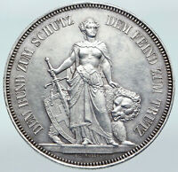 1885 SWITZERLAND Canton of BERN Shooting Festival Swiss Silver 5 Fr Coin i87252