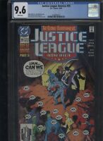 Justice League America #55 CGC 9.6 Giffen DeMatteis 1991 of