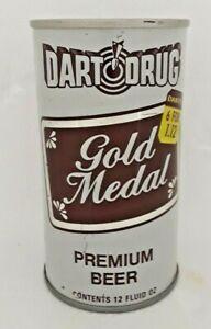 "DART DRUG GOLD MEDAL  ""6 FOR 1.12"" 12oz S/S Beer Can Bottom Opened"