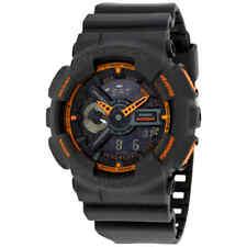 Casio G-Shock Grey and Orange Resin Men's Watch GA110TS-1A4