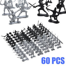 60Pcs/Set Medieval Knights Warriors Kids Toy Soldiers Figures Model Kid Gift