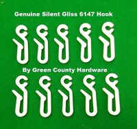 12 x Silent Gliss 6146 Nylon Curtain Hooks to go with 3534 glider