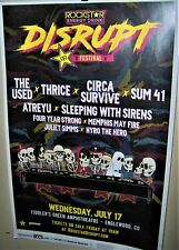 The Used Thrice Sleeping With Sirens in Concert Show Poster Denver Co 2019 Cool