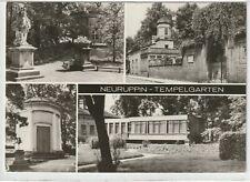 Ansichtskarte Neuruppin - Ansichten im Tempelgarten - schwarz/weiß