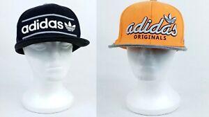 2 Lot of Adidas Snap Back Hat Orange and Black Color