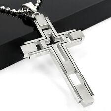 Halskette Kreuz Anhänger Kette Edelstahl Männer Frauen Herren