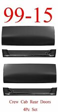 99 15 Crew Cab 4Pc Rear Door Outer & Inner Bottom, Ford Super Duty