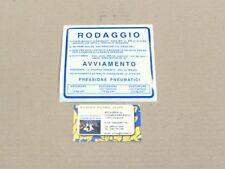 0652 ADESIVO RODAGGIO BLU 2% VESPA 180 200 RALLY 125 150 SPRINT SUPER GT GTR