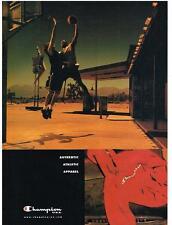 PUBLICITE ADVERTISING  2002  CHAMPION vetements de sport