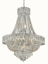 "World Crystal  Empire 32""H 12L foyer,Dining room Crystal Chandelier Light Chrome"
