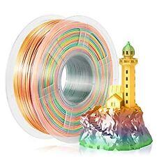 Silk Rainbow Filament 1.75mm 1kg For 3D Printer Shiny