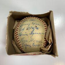 Original 1950 Scranton Red Sox Team Signed Autographed Baseball MiLB Piper Davis