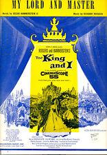 "KING & I Sheet Music ""My Lord And Master"" Yul Brynner Deborah Kerr"