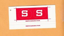 OLD 1970s NORTH CAROLINA NC STATE WOLFPACK SMALL FOOTBALL GUMBALL HELMET DECALS