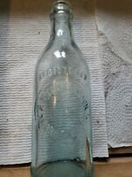 MORRISTOWN  NJ/ AQUA CROWN TOP BEER BOTTLE SODA BOTTLE/ A.W. THEILERS SON/BIM/