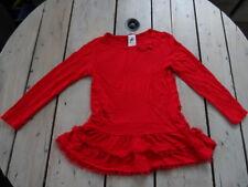 T-shirt tunique manches longues rouge à volants PALOMINO Taille 5 ans / 110 cm