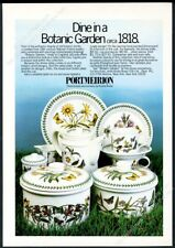 1978 Portmeiron Botanic Garden 1818 plate pitcher cup photo vintage print ad