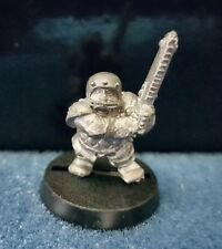 Warhammer Bloodbowl Dwarf 2nd edition Star Player Flint Churnblade Metal Oop