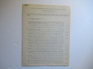 1947 IH International Farmall A B tractor service school training EXAM questions