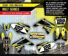 Suzuki RMZ 450 stickers decals graphic kit RMZ450 2008-2015 BOLT SERIES