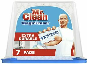 Mr. Clean Magic Eraser Pads 7 Ct Extra Durable Cleaning with Durafoam NEW