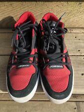 Air Jordan Flight 23 Mid Top Sneakers Sz 12 - 510892-010 Black White Gym Red