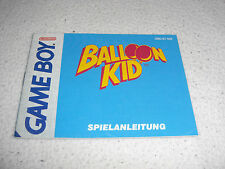 Balloon Kid Anleitung, Beschreibung DMG-BT-NOE