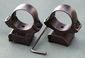 CZ550 / CZ557 rifle scope mounts, 30mm rings and bases, STEEL MATTE finish.